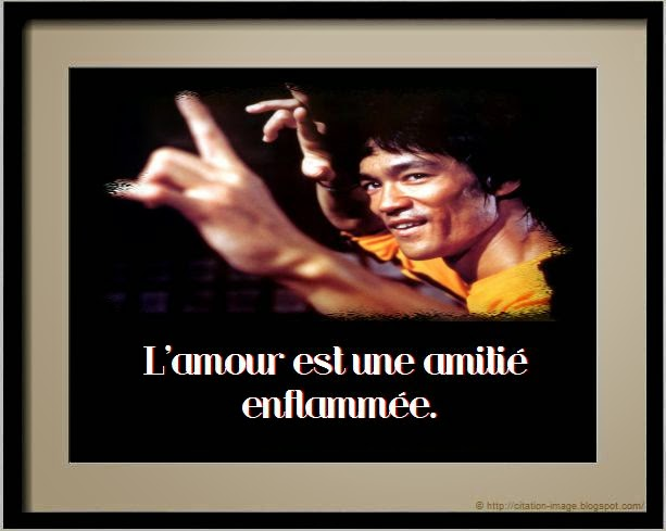 Citation bruce lee amour en image