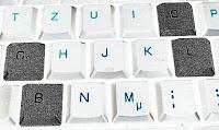 Das Bild zeigt den Ausschnitt einer Tastatur, bei der die Buchstaben BLOG hervorgehoben sind.