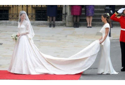 Kate Middleton on her Wedding Day in her Lovely Wedding Gown