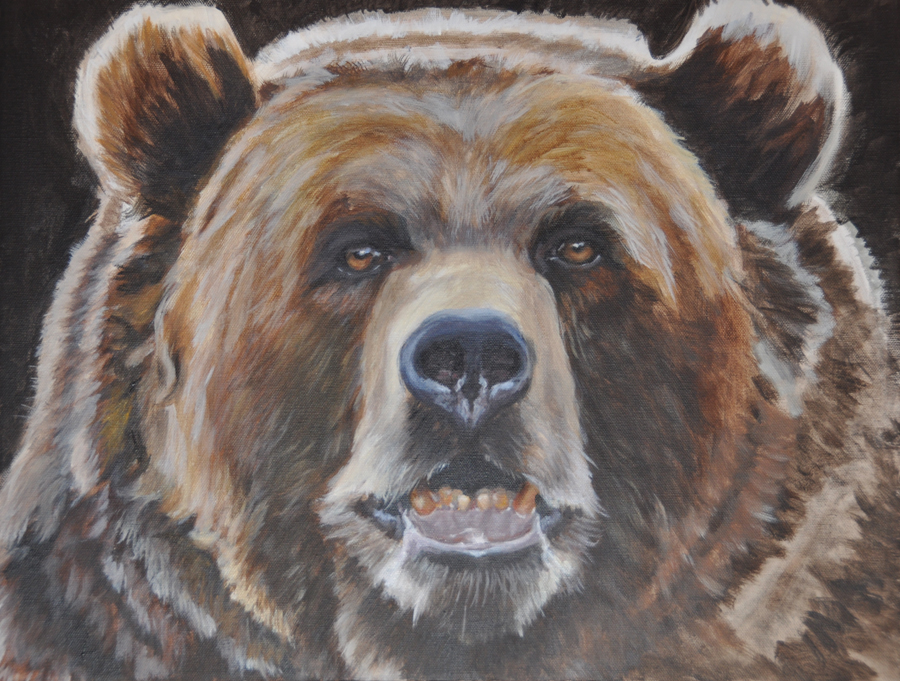 My Painted Life: Grizzly Bear portrait and painting demonstration: tahirihsblog.blogspot.com/2012/04/grizzly-bear-portrait-and...