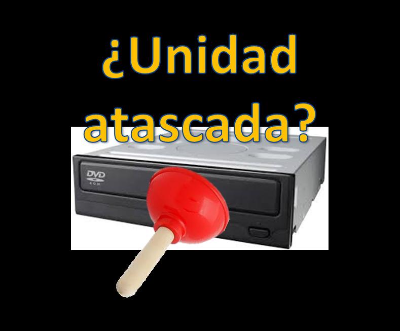 atasco bandeja unidad cd/dvd