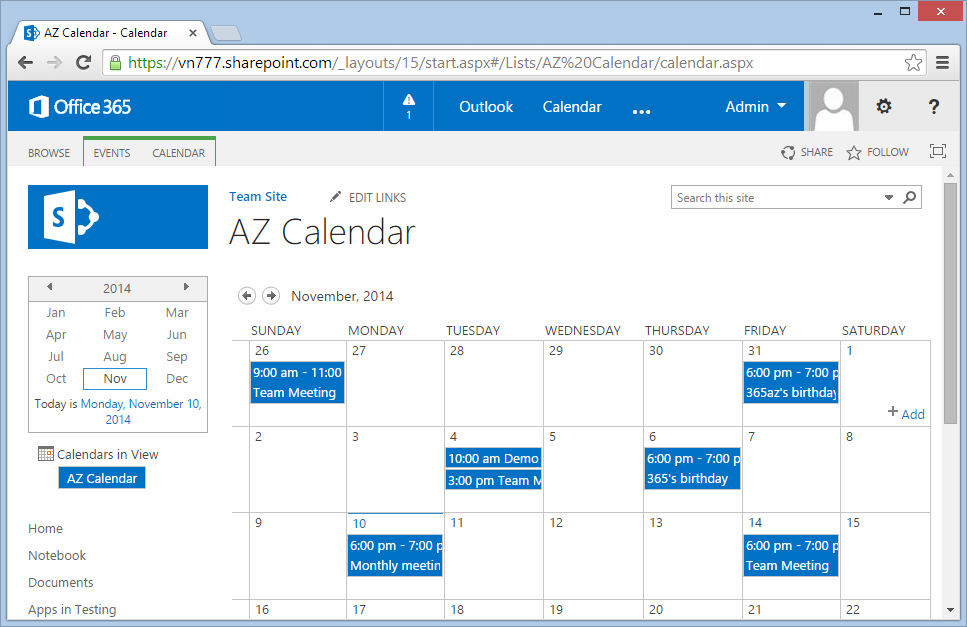 Go to the calendar you want to color code its events:
