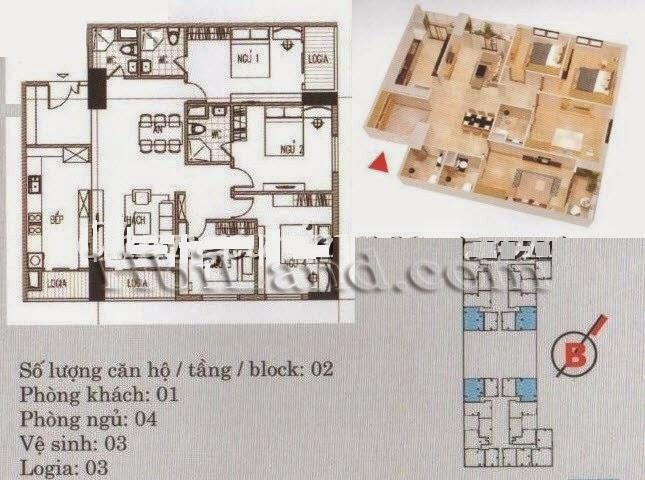 mặt bằng căn hộ 120m2 khu a chung cư imperia garden