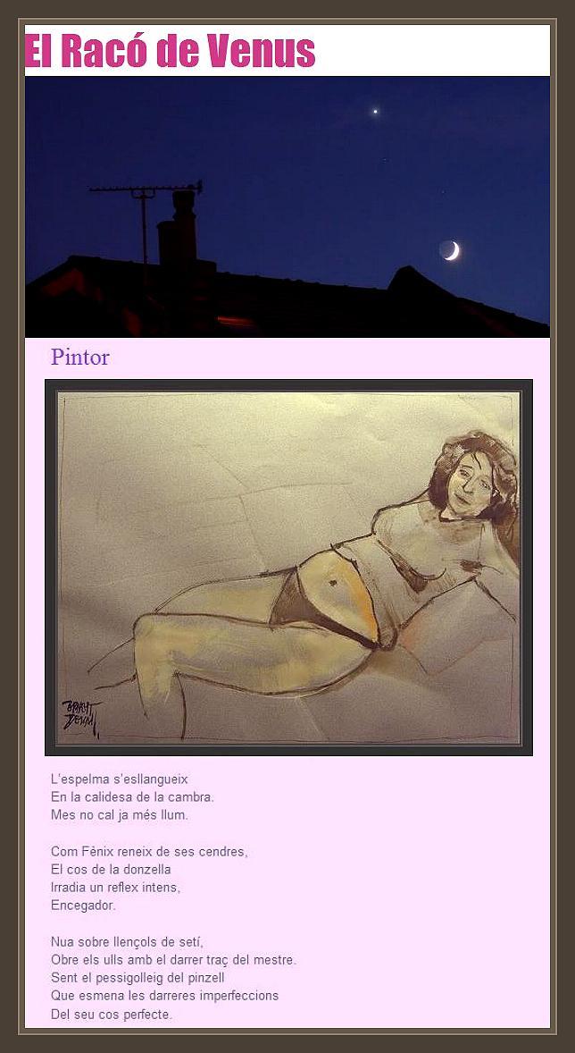 PINTURA-MUJER-MODELOS-CRISTINA BABOT-PINTOR-ERNEST DESCALS