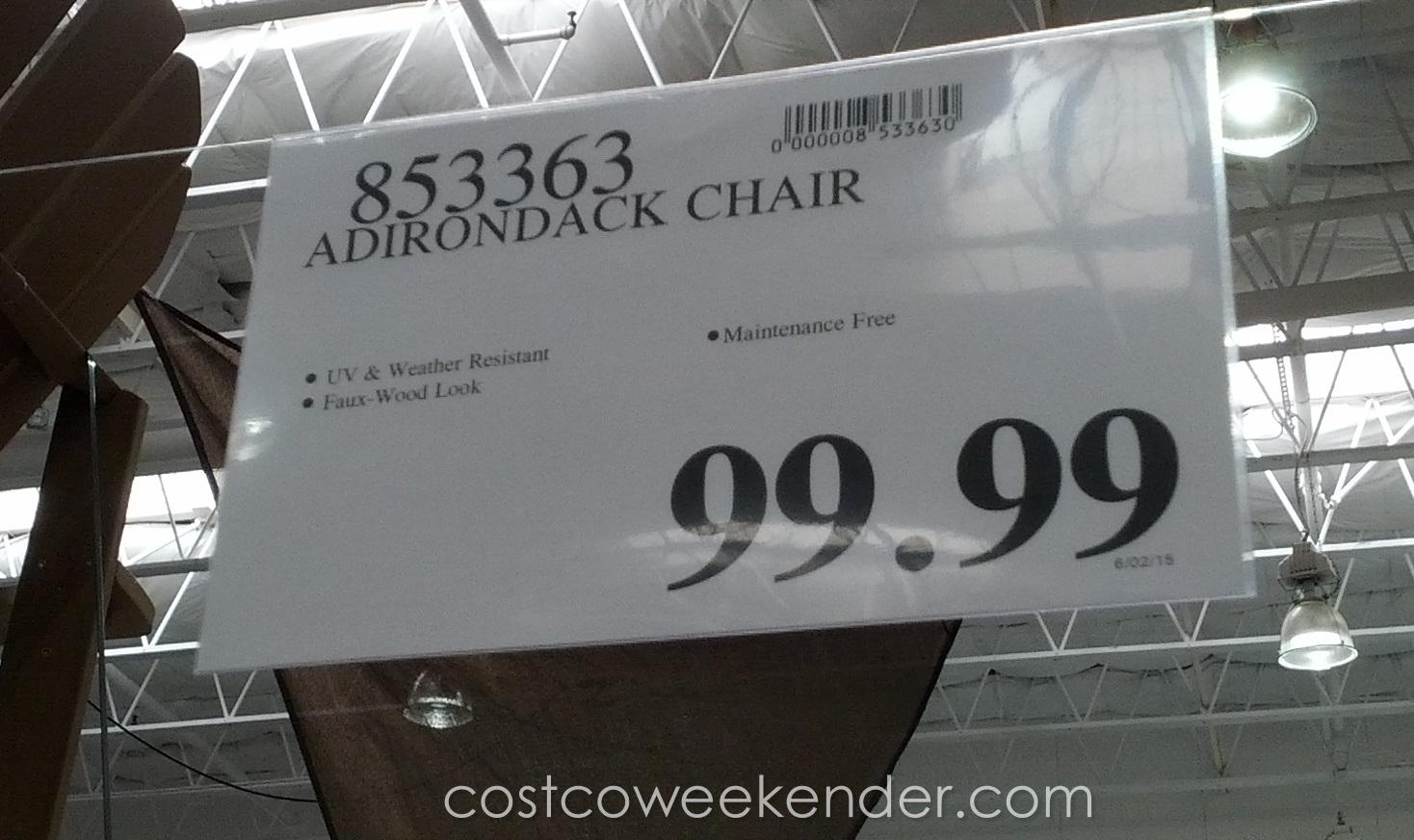 Faux Wood Adirondack Chair | Costco Weekender