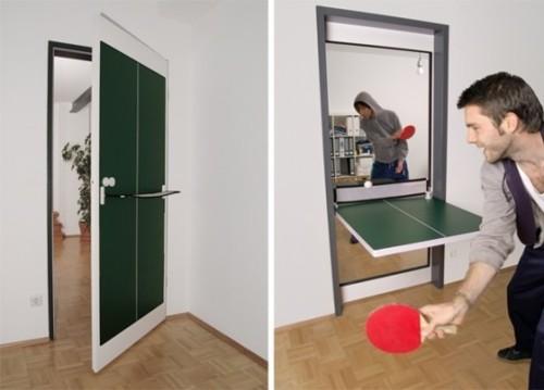 Puerta/Mesa de ping pong genial idea