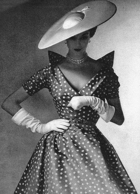 Polka dot fashion history 27
