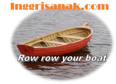 Lirik lagu Inggris: Row row your boat