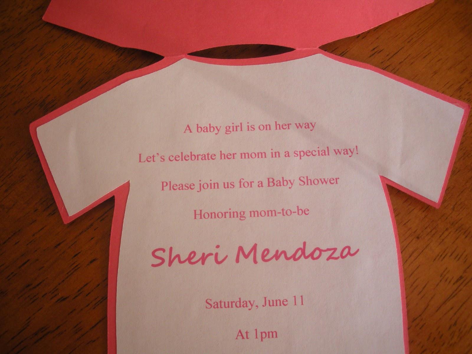 Jenn\'s Paper Crafts: Baby shower invitations ~ girl