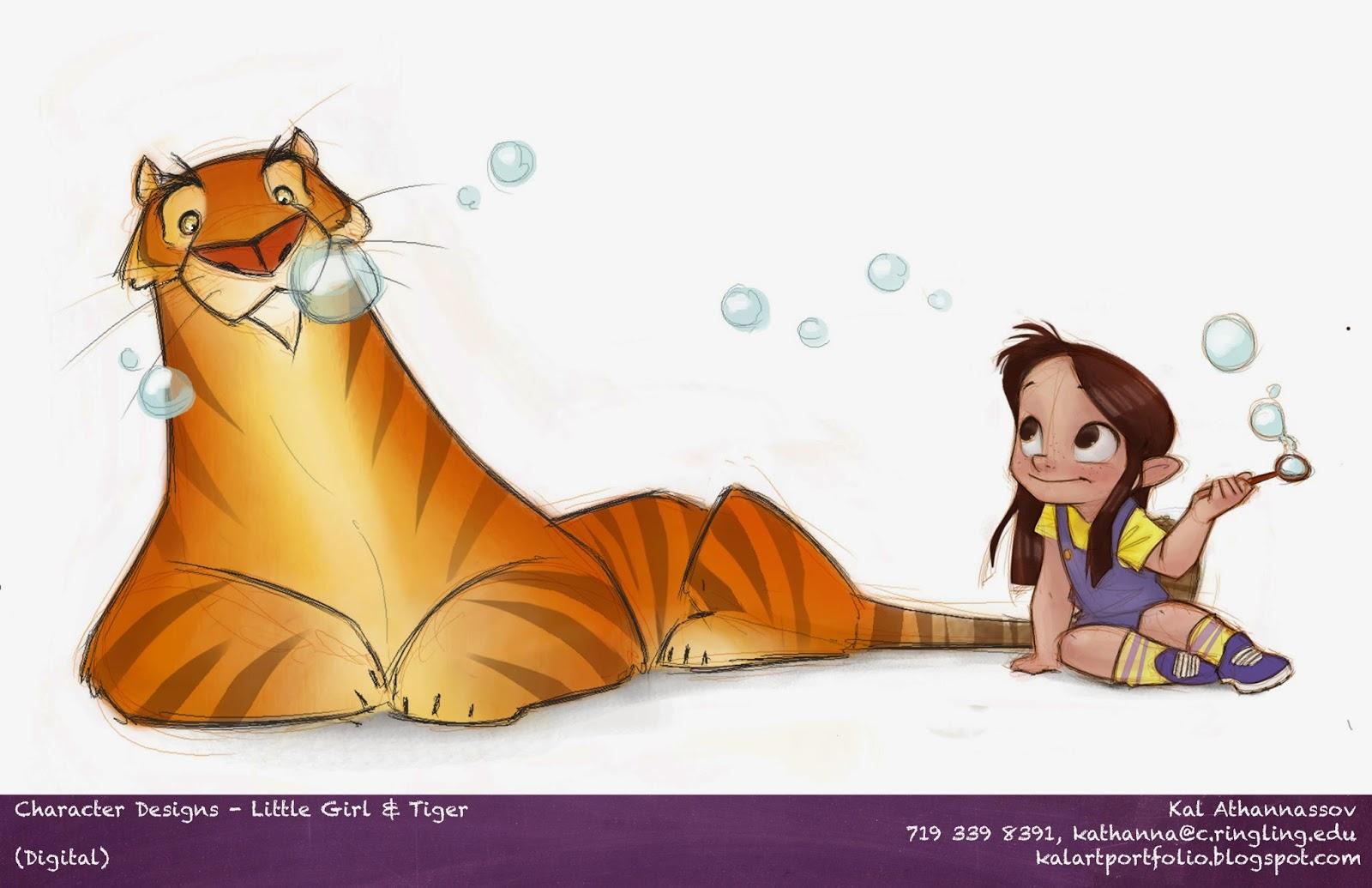 Visual dev tiger Character Design little girl