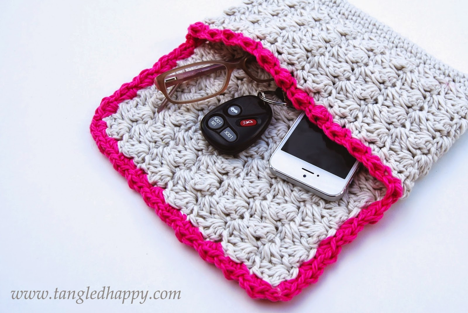 free crochet pattern summer clutch