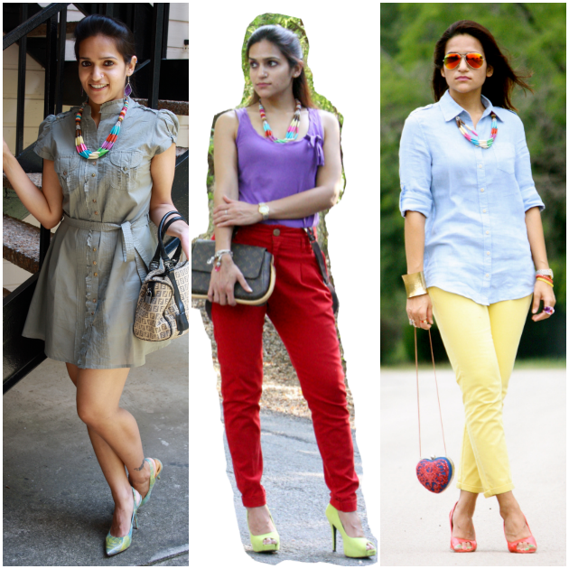 Three Ways To Style A Necklace, Tanvii.com