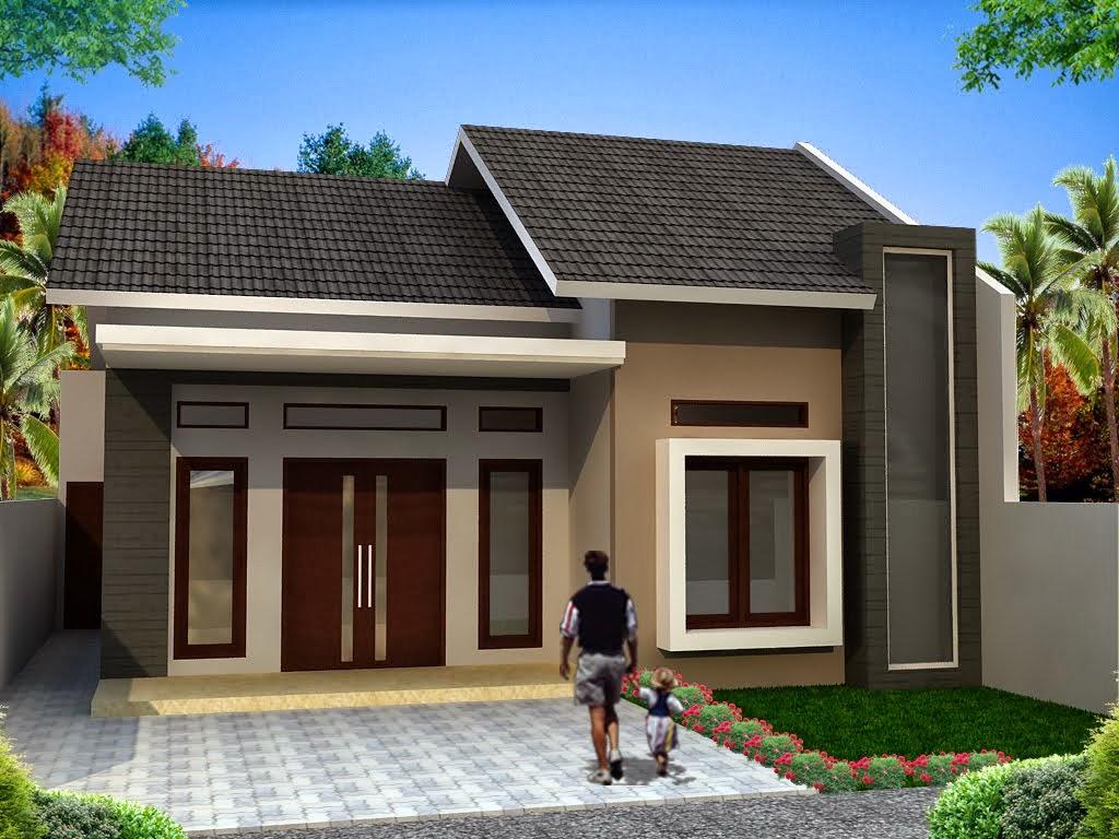 contoh gambar kombinasi warna cat rumah desain denah