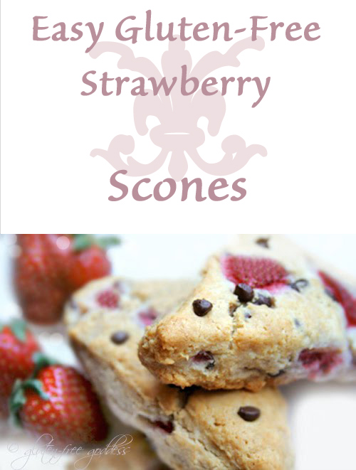 Easy Strawberry Chocolate Chip Scones - Gluten-Free