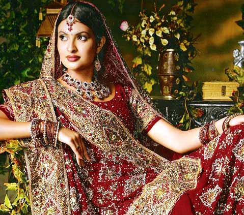 Indian bridal wear red indian wedding dress images for Www indian wedding dress