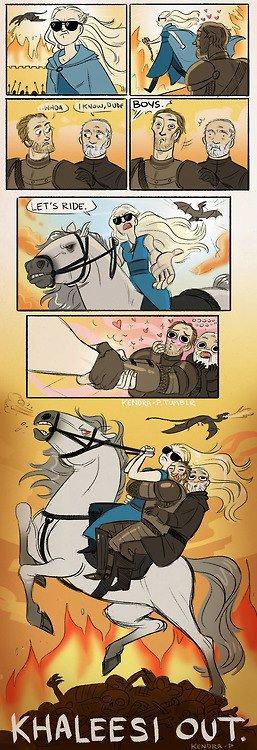 khaleesi pelicula acción - Juego de Tronos en los siete reinos