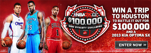 NBA 2K13 - $100,000 Dollars & Car Competition By Virgin Gaming