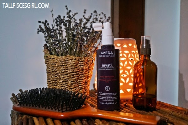 Experienced an amazing scalp massage with invati™ Scalp Revitalizer and Aveda Wooden Paddle Brush