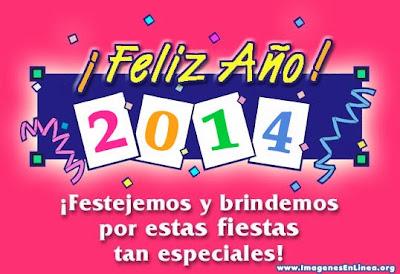 Feliz año nuevo 2014, tarjetas con frases para amigos