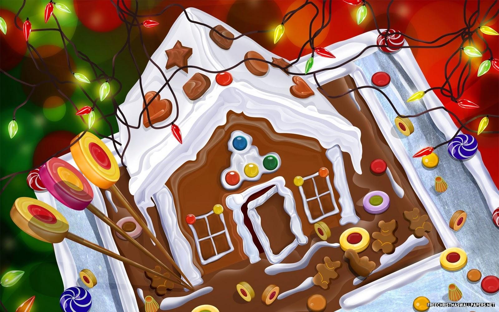 Images pour blogs et facebook no l tendresse no l douceur for Maison en biscuit de noel
