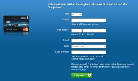 Cara Mengajukan Aplikasi Online Kartu Kredit Standard Chartered