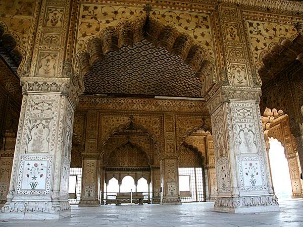 Diwan-I-Khas in Delhi Red Fort Interior Architecture Design Images