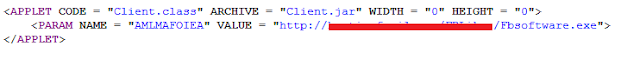 Malicious code of Java Drive by Attack