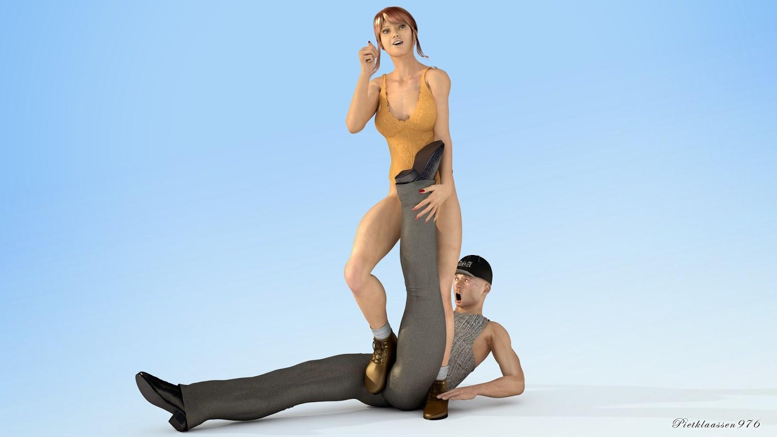 Bondage daily domination foot free spankings video