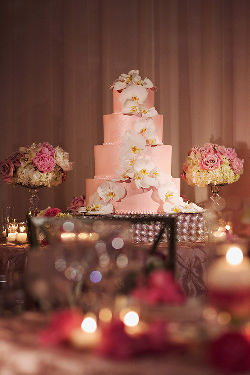 This pink wedding cake is my first time playing with pink buttercream