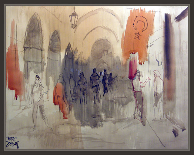 GRAN BAZAR-ESTAMBUL-VIAJES-PINTURAS-ACUARELAS-ISTAMBUL-PAINTINGS-WATERCOLOR-ERNEST DESCALS-