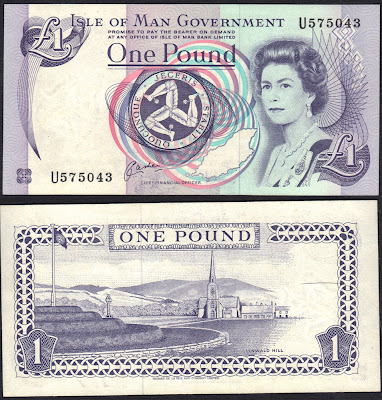 Isle of Man 1 Pound 1991 P# 40b