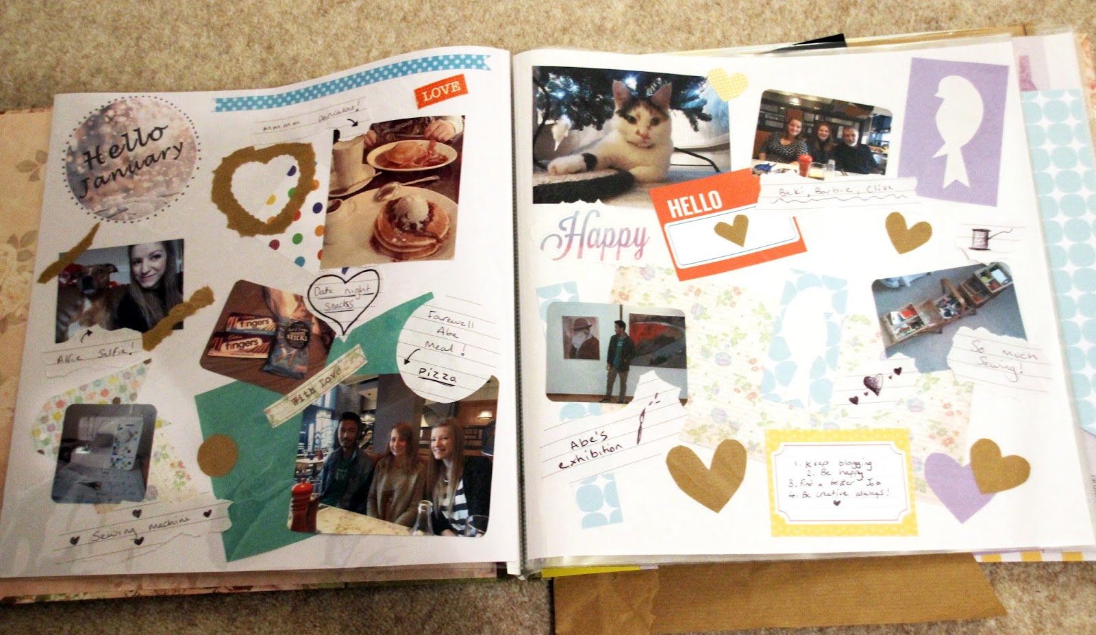 January scrapbook