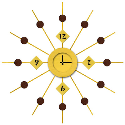 My husband's design for a sunburst clock