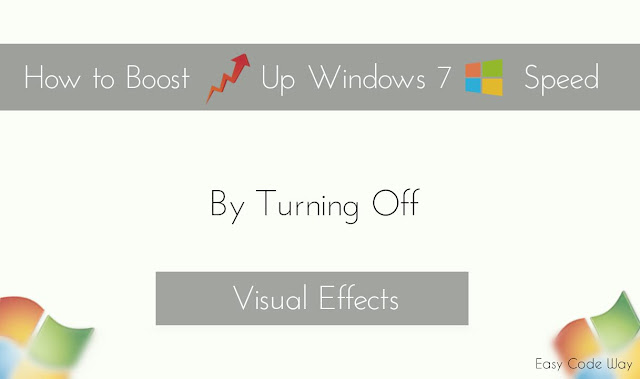 Boost Up Windows 7 Speed by Turning off Visual Effects