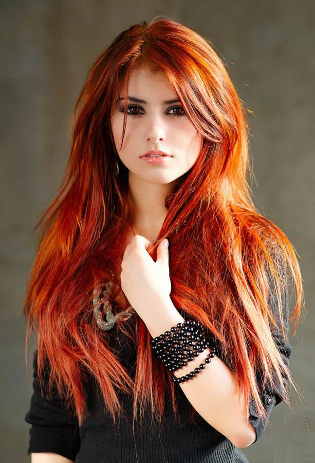 material matrix - Love her red hair.