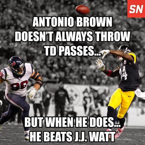 Steelers, Texans, Antonio Brown, Pass