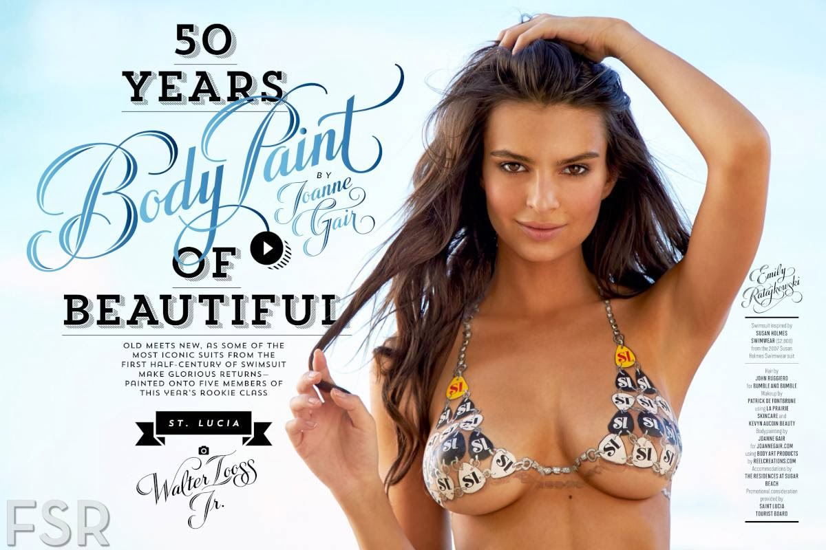 Emily Ratajkowski Gets Her Body Painted For SI Swimsuit Issue