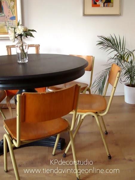 Comprar sillas vintage estilo nórdico para salón-comedor