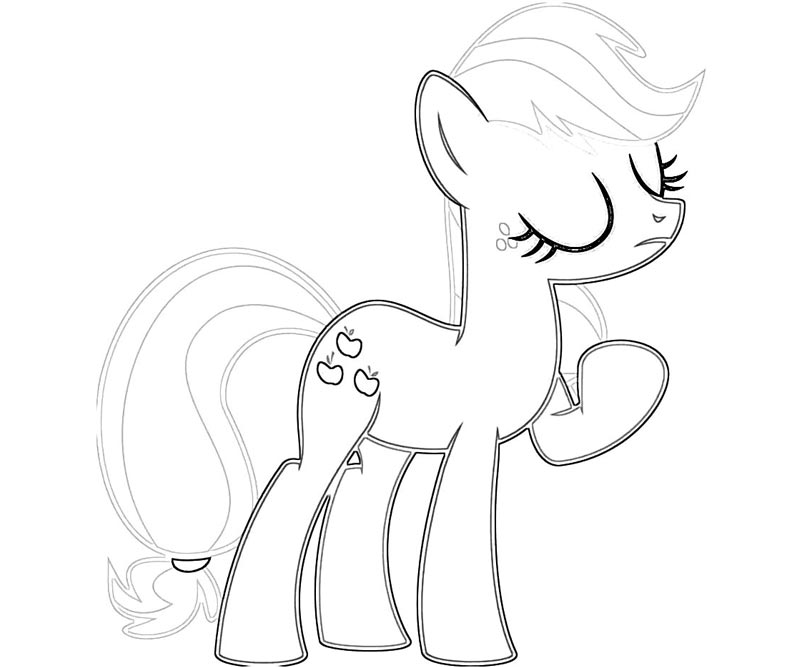 #15 My Little Pony Applejack Coloring Page