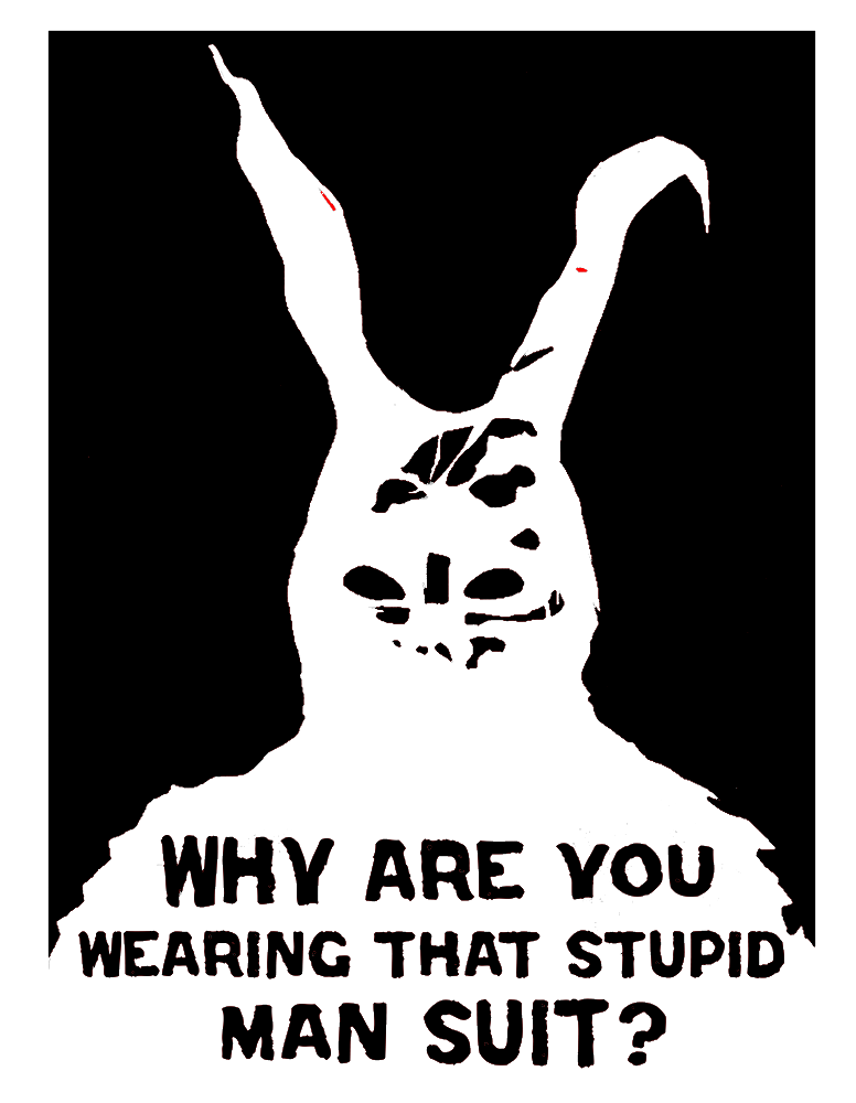 Why do you wear that stupid bunny suit?
