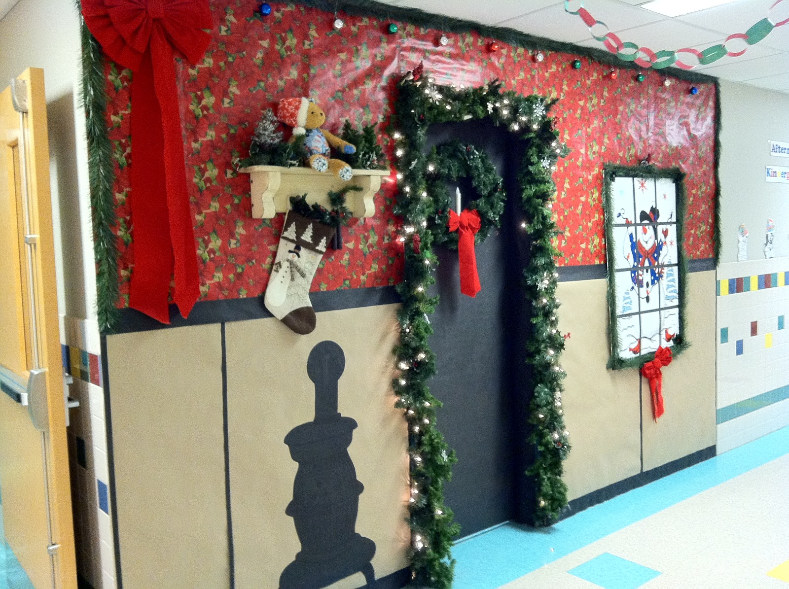Christmas door decorating contest gingerbread house - The Nurse S Office