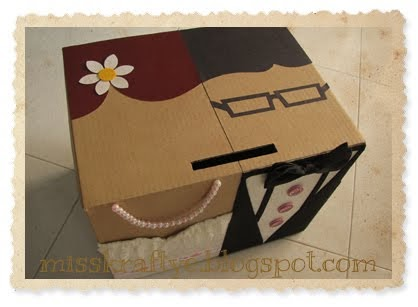 Wedding Gifts For Bride And Groom Singapore : Miss Krafty E: Ang Bao Boxes: Classic Bride & Groom (Single box)
