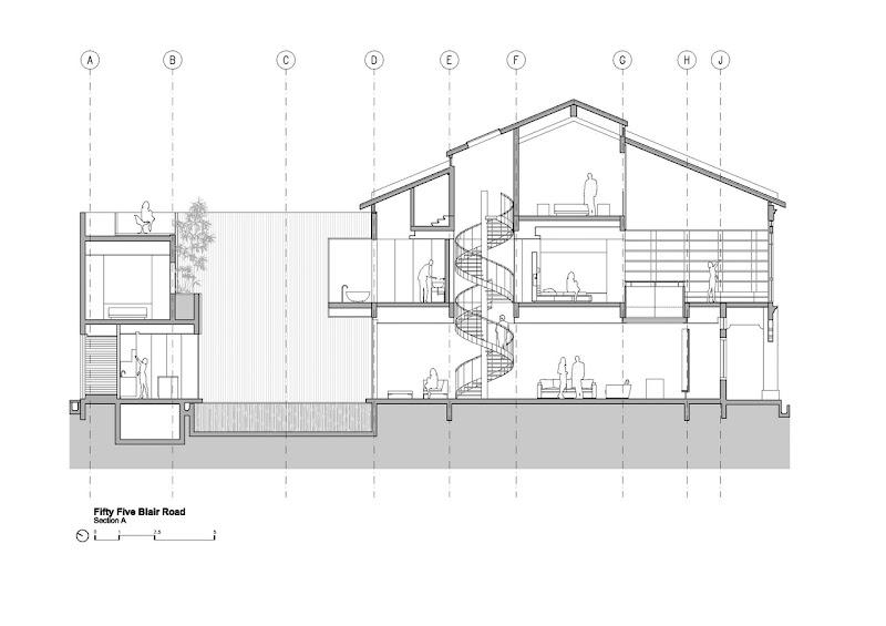 Illustration of the minimalist house on narrow plot, Singapore title=