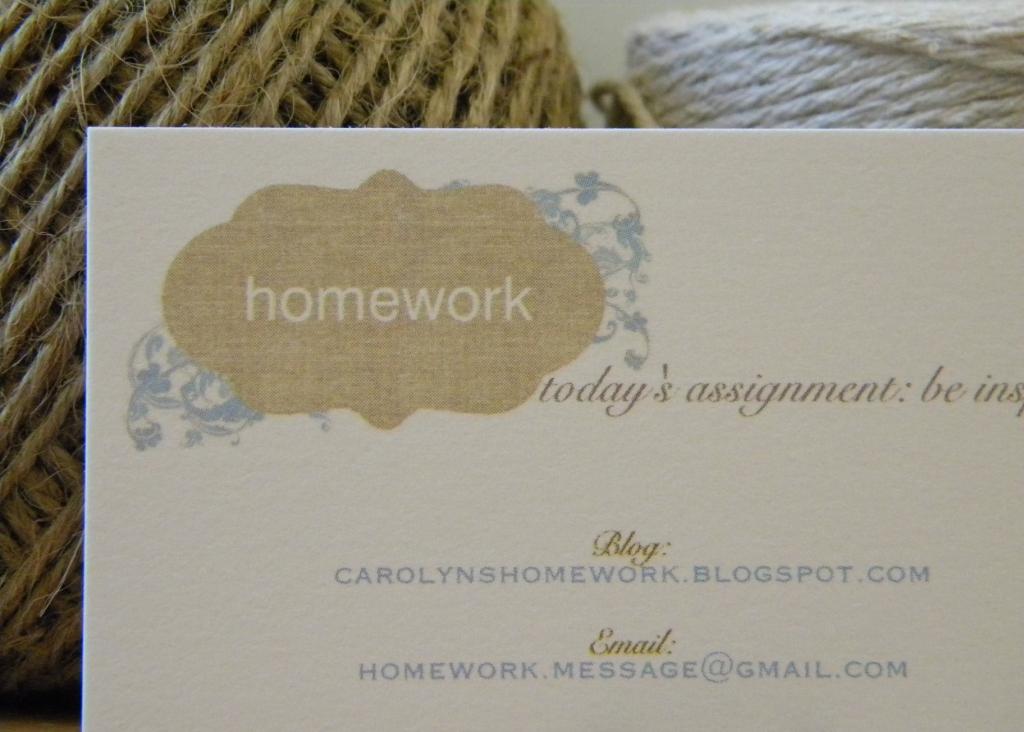 homework: a creative blog: Inkling: business cards