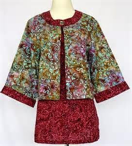 Model gambar desain baju batik untuk wanita gemuk terbaru