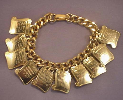 Bracelet With Ten Commandments On It3