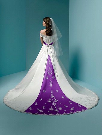 Purple wedding dress knitting gallery for Wedding dresses with purple trim
