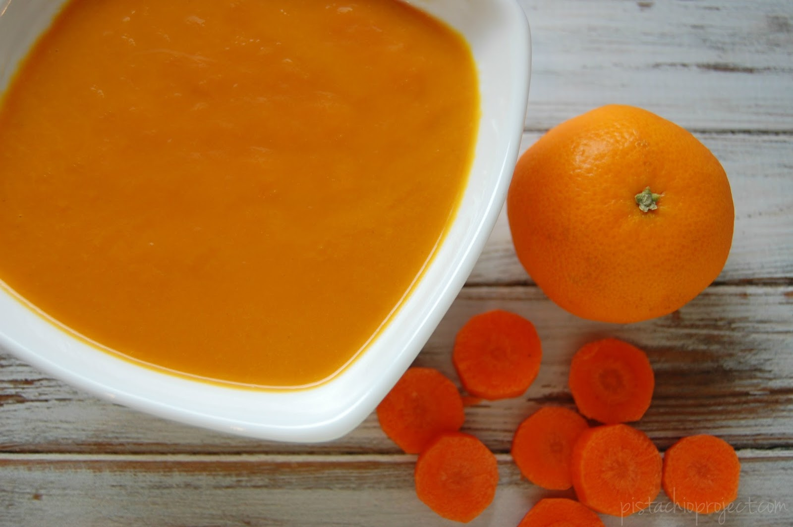 Sunshine Carrot Soup - Carrot soup with the kick of ginger and ...