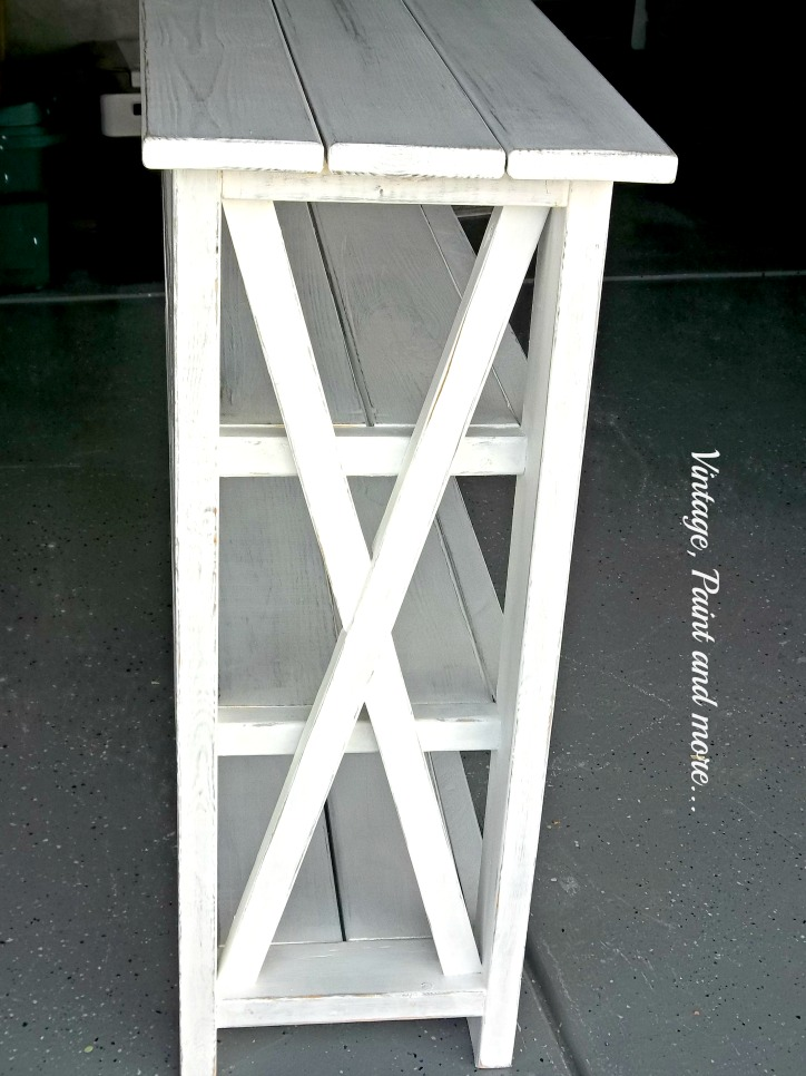 Vintage, Paint and more...diy rustic x bench painted with chalk paint