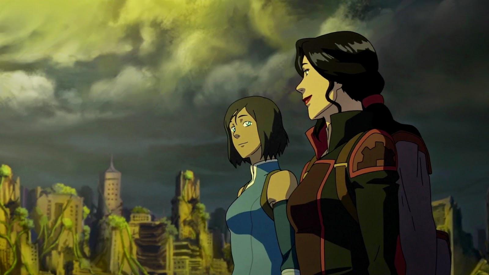 Asami sato and korra avatar